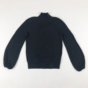 Old Navy Black Puff Sleeve Mockneck Sweater